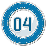 stitched number divider 4