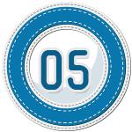 stitched number divider 5