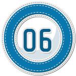 stitched number divider 6