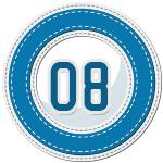 stitched number divider 8