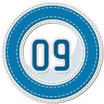 stitched number divider 9