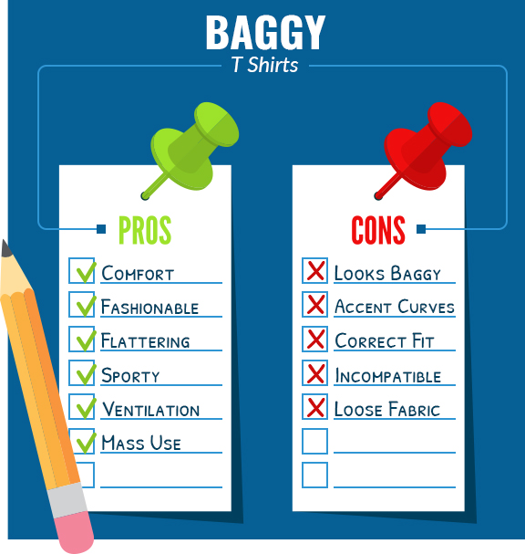 baggy t shirt pros cons graphic