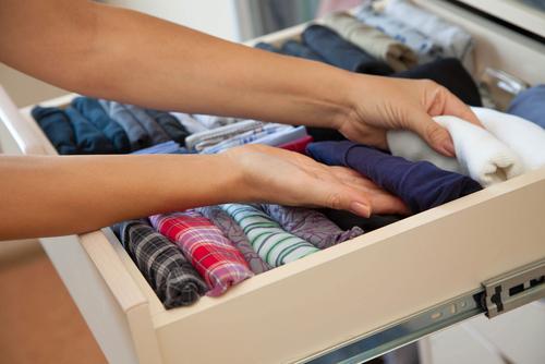 drawer with underwear in the closet