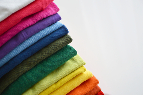 various colors of fabric