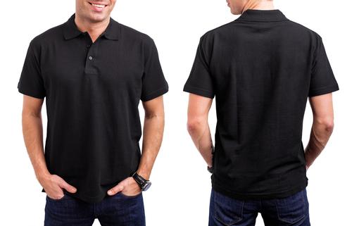 mens black polo shirt