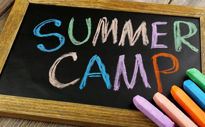 summer camp written in chalk