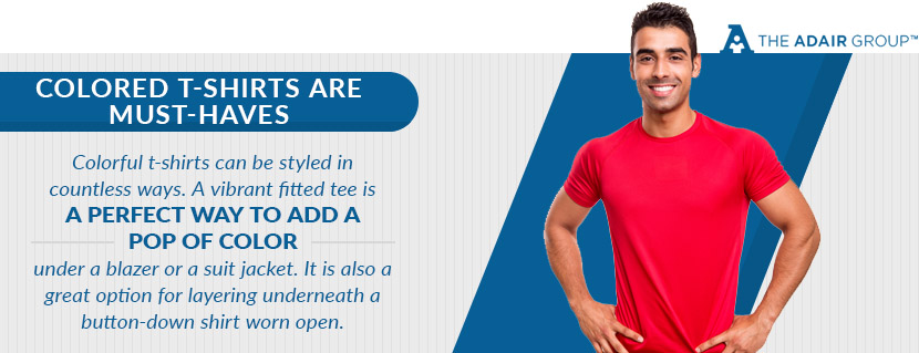 colored t shirts are must haves quote