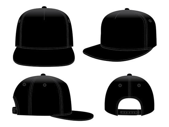 Black Classic Hip Hop cap & snap back