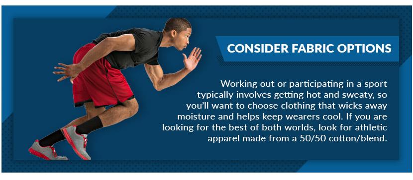 consider fabric options graphic