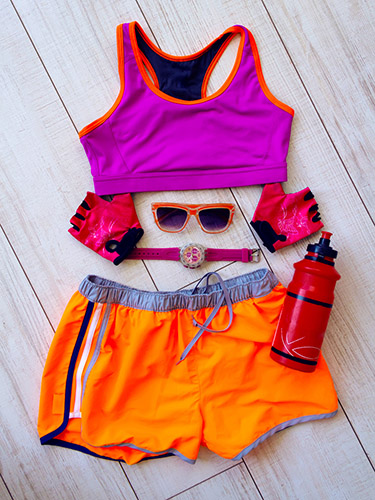 gym outfit displayed