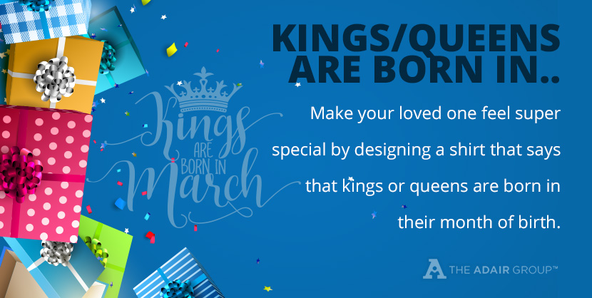 Kings or Queens are born in design