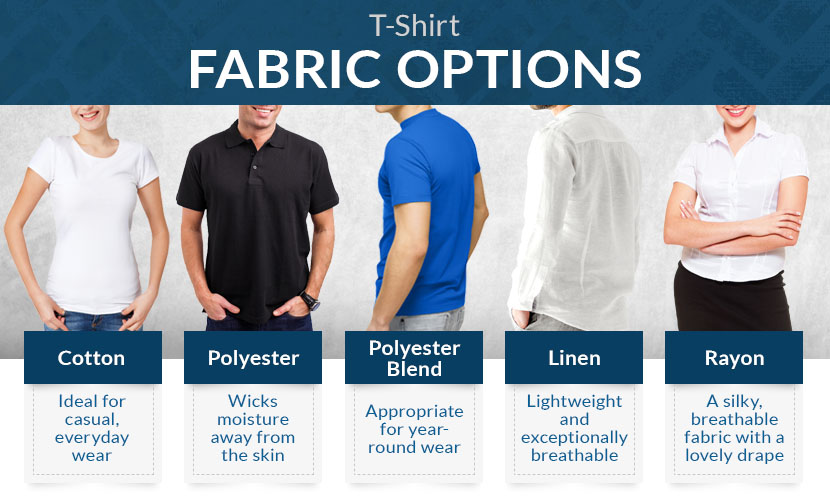 t shirt fabric options graphic