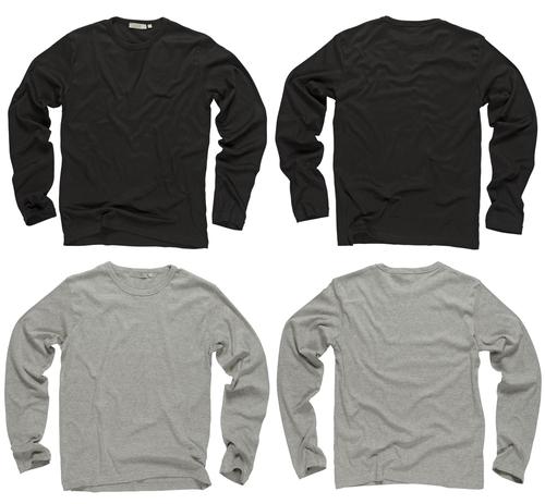 black and gray long sleeve shirts