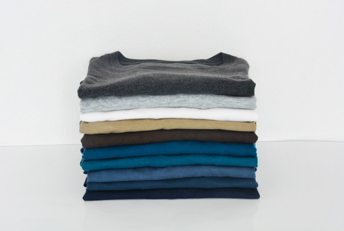 stack of t shirts
