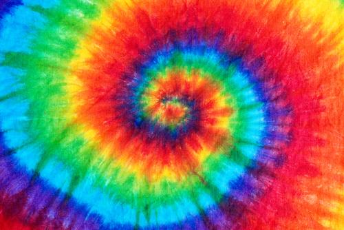 swirl pattern tie dye