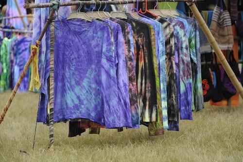 tie dyed sweatshirts on rack