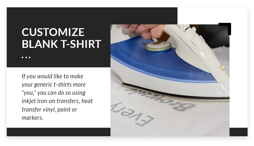 customize blank t-shirt graphic