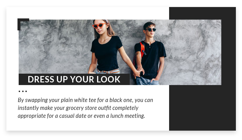 dress up your look graphic