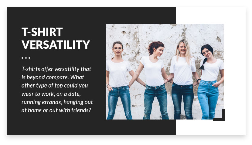 t-shirt versatility graphic