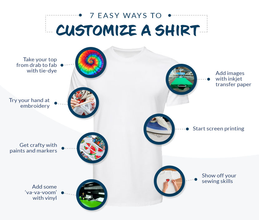 7 easy ways to customize a shirt graphic