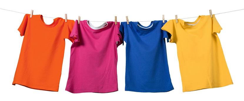 t shirts hang drying