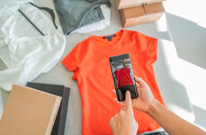 Selling online by taking photo of clothes