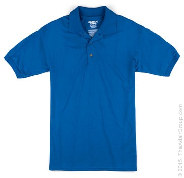 Royal| Adult Jersey Knit Polo