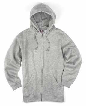 Heather Grey| Adult Zipper Hood