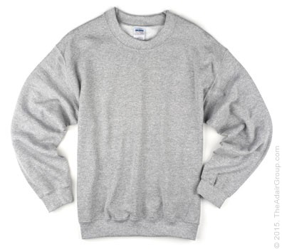 Adult Crewneck Sweatshirt - Grey