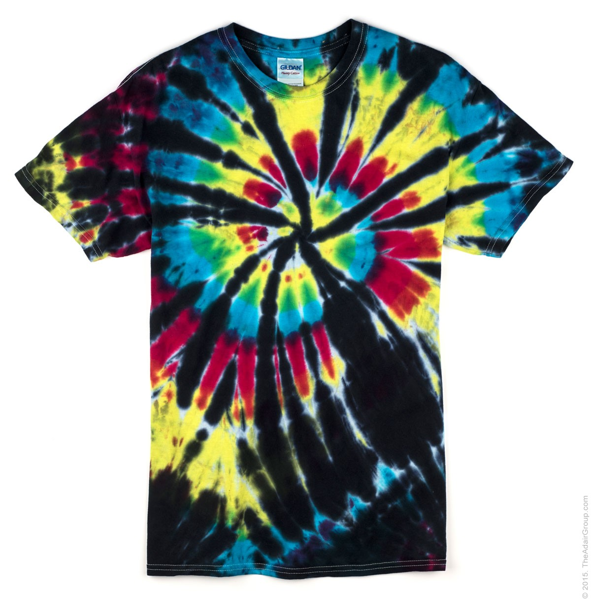 Black Rainbow Adult Tie Dye T Shirt The Adair Group