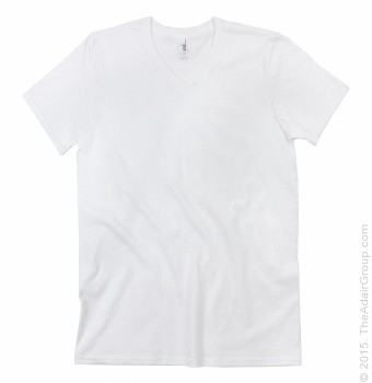 White| Adult V-Neck T-Shirt
