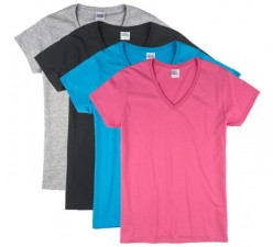 Assorted Colors| Womens Basic V-Neck