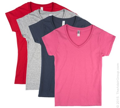 Assorted Colors| Womens Fitted V-Neck
