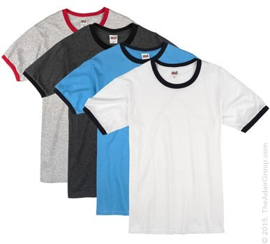 Assorted Colors| Adult Ringer T-Shirt