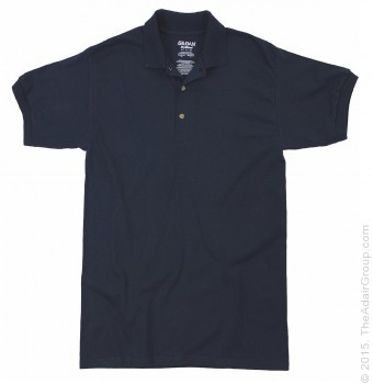 Navy| Adult Jersey Knit Polo