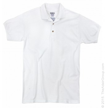 White| Adult Jersey Knit Polo