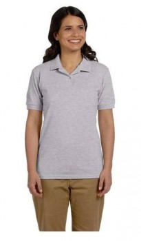 Sport Grey|Womens Pique Polo