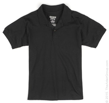 Black| Kids Polo Shirt