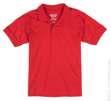 Red Kids Polo Shirt The Adair Group