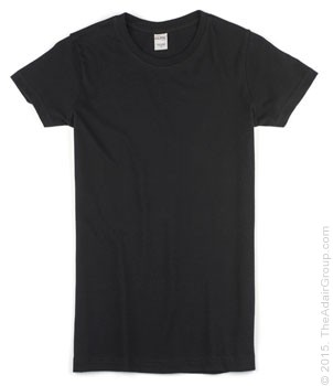 Black| Womens Fitted T-Shirt
