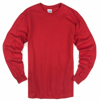 Red| Adult Long Sleeve T