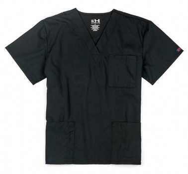 Black| V-Neck Scrub Top