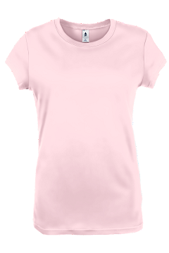 Womens Junior Fit|Cap-Sleeve T Soft Pink
