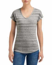 Silver|Ladies Streak V-Neck