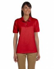 Red|Ladies Pique Polo