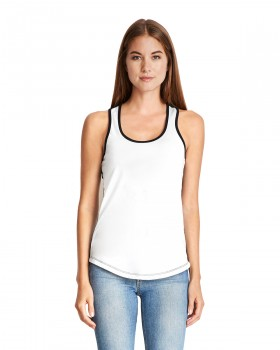 White Ringer|Ladies Racerback Tank