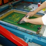 Screen printing process. Image from ideasworkshops.com