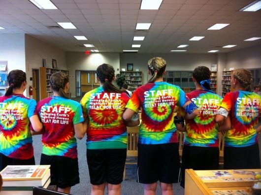 Students Rocking Tie Dye T Shirts